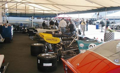 Under awning at Monterey Historics