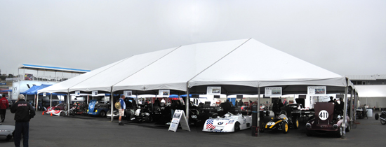 Paddock at Monterey Reunion 2011